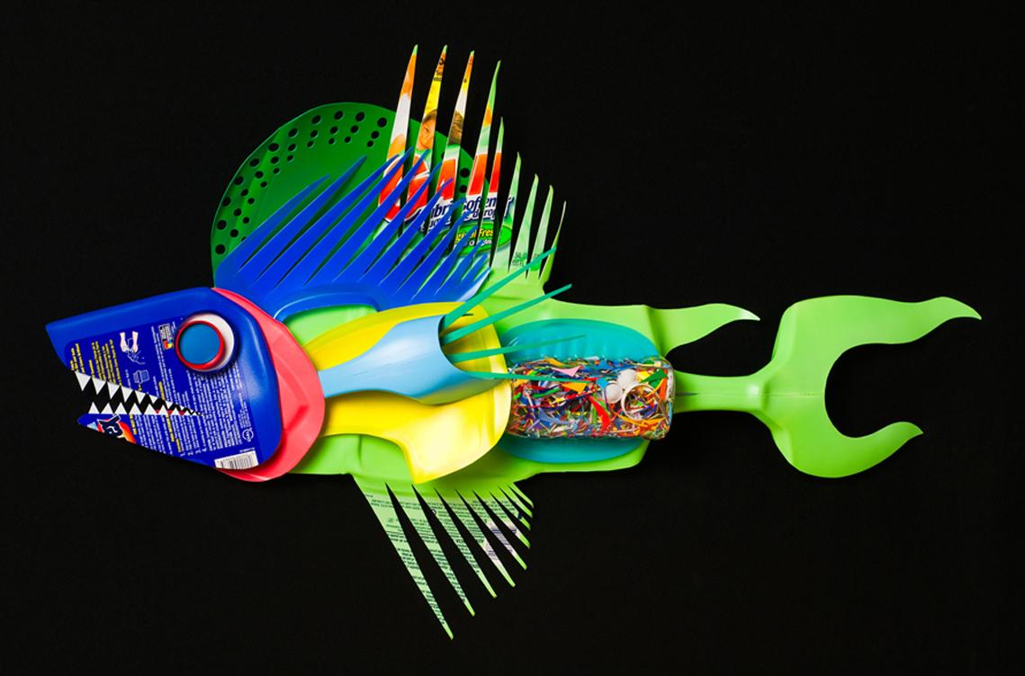 Рыбка из пластиковых бутылок пошагово для начинающих